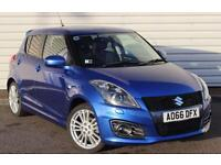 Suzuki Swift Sport 1.6 Petrol Manual 5 Door Hot Hatchback Blue 2016