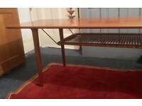 Coffee Table. Solid teak. Made in Norway - vintage 60s. Long (180cm)