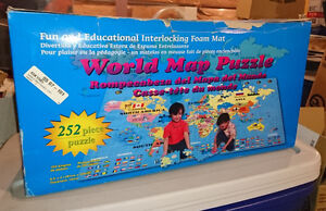 Giant Foam World Map Puzzle (Lee Valley) NIB