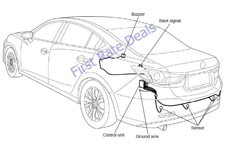 Mazda C853-V7-290 Rear Parking Sensor Kit Mazda6 14-16