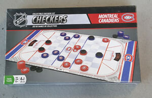 Montreal Canadiens checkers game