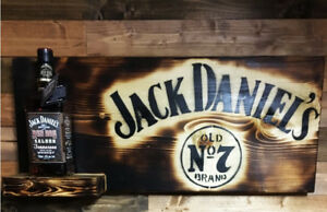 Custom Made Jack Daniels Charred Oak Bottle Display