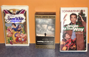 VHS videos,  comedy, drama, action, drama, family, movies