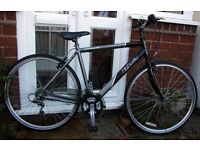 "*MENS 18 SPEED ALUMINIUM 21"" FRAMED HYBRID BIKE - CLEANED & SERVICED - SUPERB CONDITION*"