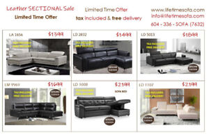 Don't miss out Biggest Leather Sectional Sale