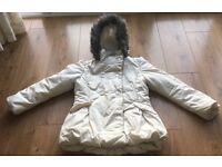 White cosy Jhon Lewis coat for girls age 11-12
