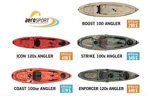 Kayaks de pêche. À partir de 299 $. Fabriqués au Québec.