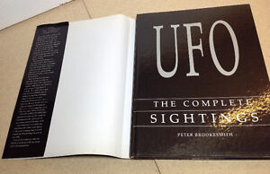 UFO The Complete Sightings by Peter Brookesmith (1995 Hardcover) Cambridge Kitchener Area image 5