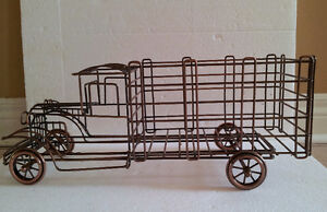 Metal Wire Truck Wine Champagne Bottle Holder London Ontario image 1