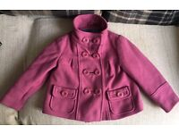 Girls 3-4 years Next pink coat