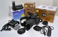 NIKON D80 DSLR with 18-70mm lens and many bonus items!
