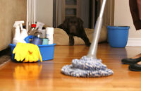 **House Cleaning - Apartments $40 to $80 / Houses $70 to $140**
