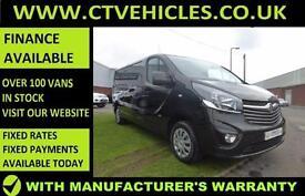 2016 16 plate Vauxhall Vivaro 1.6CDTi Sportive 2900 L2H1 LWB A/C Black Van