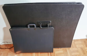 PAIR OF ART PORTFOLIOS/BINDERS