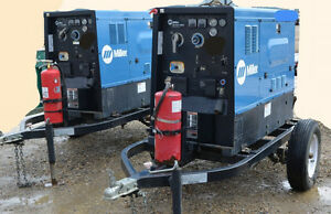 MILLER BIG BLUE 500AMP/ CC TRAILER MOUNTED DC GENERATOR ARC WELD