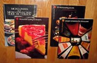 4 MICROWAVE COOKBOOKS...GUIDE-CONVERSION-SECRETS-DESSERTS