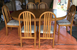 Dining Table with 6 Chairs-Moving Sale