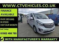 2017 66 plate Vauxhall Vivaro 1.6 CDTi Sportive 2900 L2H1 L2 LWB 120bhp EURO6 AC