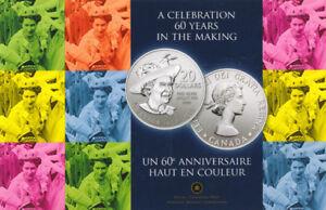2012 $20 Fine Silver Commemorative Coin - 60th Queen Elizabeth