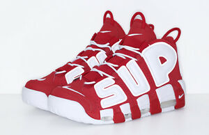 Supreme X Nike Uptempo Red Size 10.5 Brand New Deadstock