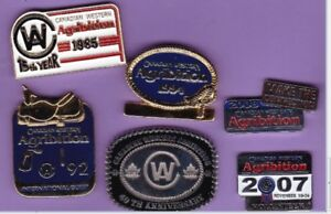 Canadian Western Agribition - lot of six different souvenir pins
