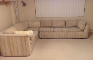 Sectional couch and pull out queen bed