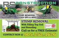 STUMP REMOVAL  FALL PRICES SMALL $150.00  DURHAM