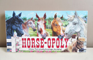 Horse-Opoly Board Game Horse Monopoly Game