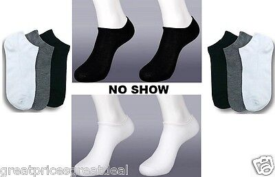 6 12 Pairs Anklet Spandex No Show Socks Lot Mens Womens Solid Colors  70033D