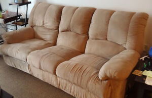 3 Seat Microfiber Reclining Couch