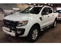 2015 WHITE FORD RANGER 3.2 TDCI 200 WILDTRACK 4WD CREW CAB CAR FINANCE FR 62 PW