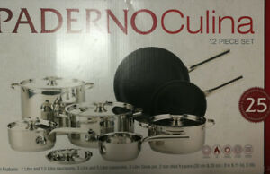 BRAND NEW PADERNO 12-pc COOKWARE FOR SALE