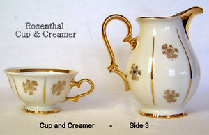 Vintage Rosenthal, Chippendale, cup and creamer. like new, rare