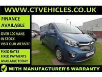2016 16 plate Vauxhall Vivaro 1.6CDTi Sportive 2900 L2H1 LWB A/C Blue Van