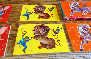 RARE VINTAGE WOODEN. 3 IN 1 ANIMAL JIGSAW PUZZLE 27 PIECES Gatineau Ottawa / Gatineau Area image 5