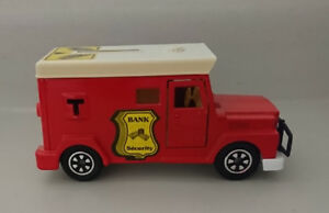 Vintage Security Bank French Majorette Toy Car Money Bank
