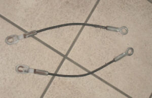 2 Tailgate Cables from GMC Sierra 1500 1996 5.7 L PICKUP TRUCK