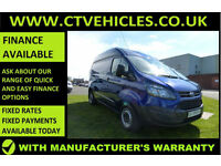 2015 65 Ford Transit Custom 2.2TDCi 290 125bhp L1H2 METALIC BLUE, LOW MILEAGE