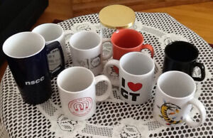 8 MUGS/$5 great for coffee, tea, hot chocolate. $5 gets all 8!