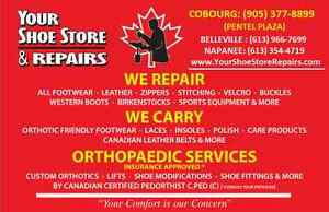 CUSTOM ORTHOTICS / SHOE REPAIRS & SALES Belleville Belleville Area image 1