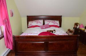 Base de lit king avec sommier 78x80