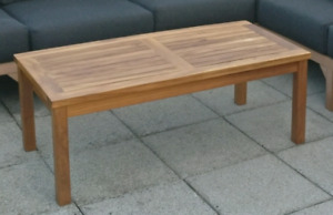 Outdoor wood teak coffee table