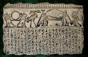 Sarcophagus Animals Gods Egyptian  Wall Plaque