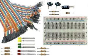 GPIO Basic Starter Kit for Raspberry Pi: Breadboard, Cable, LEDs, Switches etc