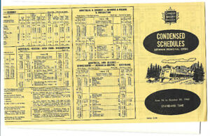 C.N.R.  Condensed Schedules between principal cities (1960)