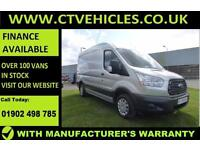 2016 66 plte Ford Transit 2.2TDCi 125PS 290 L2H2 Trend MWB HIGH ROOF SILVER