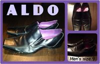 MEN'S SIZE 9 BLACK DRESS SHOES