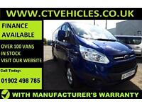 2015 65 plate Ford Transit Custom 2.2TDCi 290 L2H1 Limited LWB A/C ALLOYS L2