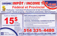 DECLARATION D'IMPOT INCOME TAX 2015 15$ et plus
