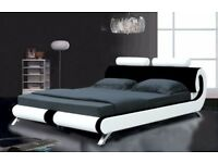 5FT FLORIDA KING SIZE BED FRAME WITH 9inch MEMORY SPRUNG MATTRESS